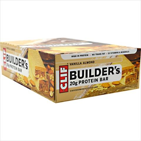 Clif Bar Builder Bar - Vanilla Almond - 2.4 Oz -Pack of 12