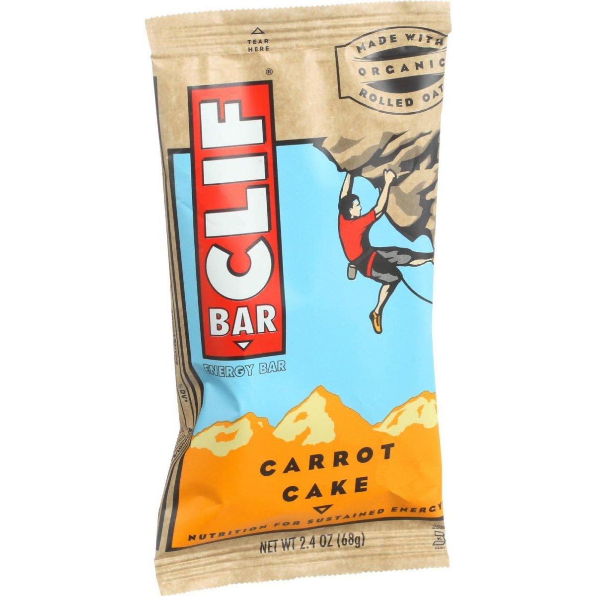 Clif Bar HG0613943 2.4 oz Carrot Cake Organic Energy Bar - Case of 12
