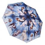 Conch 6502 Blue Stick Umbrella with Eva Fabric in Dog & Cat Prints Blue