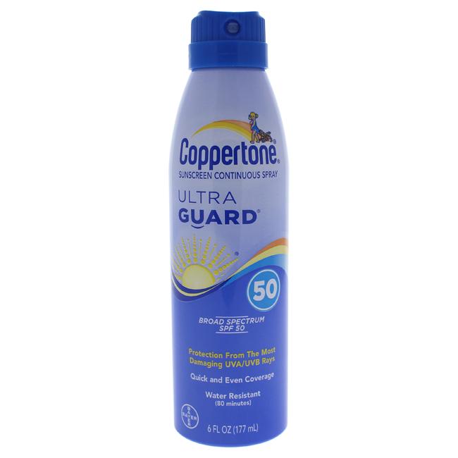 Coppertone U-SC-4507 6 oz Ultra Guard Sunscreen Continuous Spray for Unisex