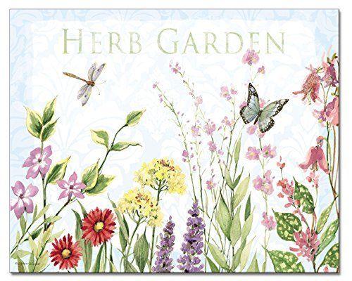 Counter Art CART22379 12 x 15 in. Herb Garden Glass Cutting Board