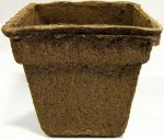 CowPots No.3 Sq-24 3 in. Square Pot 200 ml - 12 Cu. in. - Pots of 14