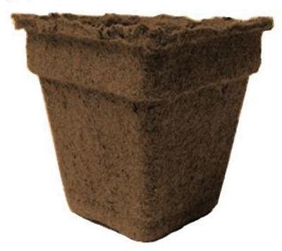 CowPots No.3 Sq-72 3 in. Square Pot 200 ml - 12 Cu. in. - Pots of 72