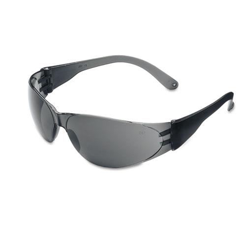 Crews CL112 Checklite Scratch-Resistant Safety Glasses - Gray Lens