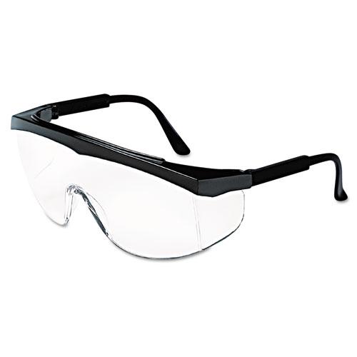 Crews SS110 Stratos Safety Glasses Black Frame Clear Lens