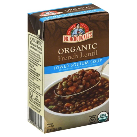 DR MCDOUGALLS SOUP LWR SODIUM FRNCH LNT-17.6 OZ -Pack of 6