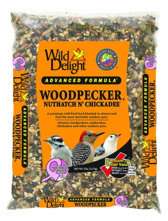 D&D Commodities Wild Delight Woodpecker Nuthatch N Chickadee Food 5 Lb 364050