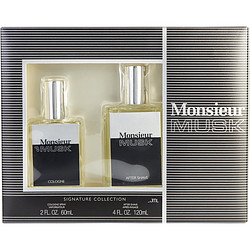 Dana 292545 Mone pieceur Musk 2 oz Cologne Spray & 4 oz Aftershave