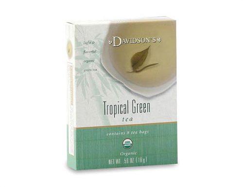 Davidson Organic Tea 2226 Tropical Green Tea Box of 8