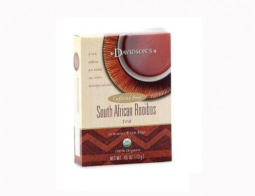 Davidson Organic Tea 2235 South African Rooibos Tea Box of 8