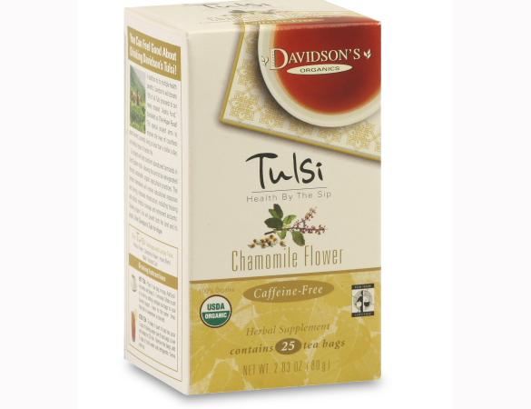Davidson Organic Tea 2554 Tulsi Chamomile Flower Tea Box of 25 Tea Bags