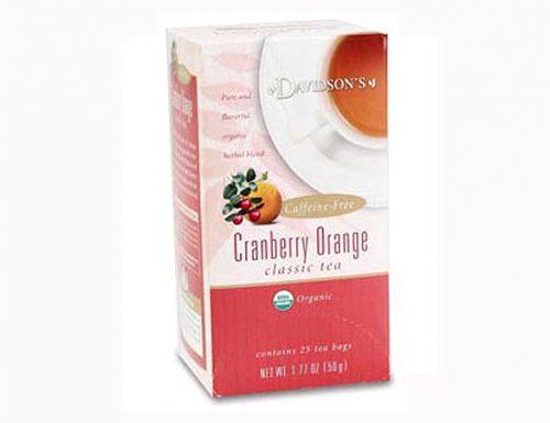 Davidson Organic Tea 2628 Cranberry Orange Tea Box of 25 Tea Bags