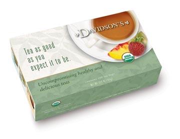 Davidson Organic Tea 292 Cranberry Orange Tea Box of 100 Tea Bags