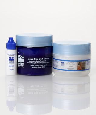 Dead Sea Spa Care DEADSEA-76 24 oz Serenity Salt Scrub and 8 oz Serenity Shea Body Butter Cuticle Oil