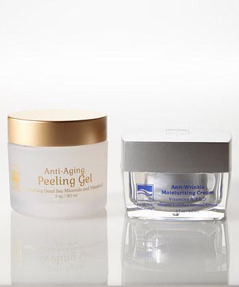 Dead Sea Spa Care DeadSea-1020 1.7 oz Anti Wrinkle Moisture Cream 3 oz New Anti-Aging Peeling Gel
