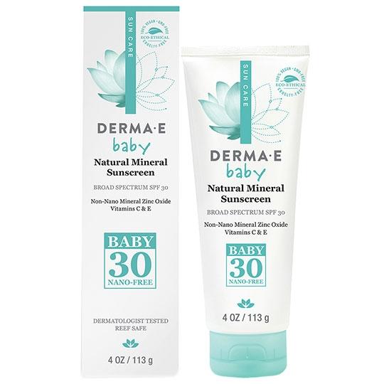Derma E 231501 4 oz Baby Natural Mineral Sunscreen SPF 30