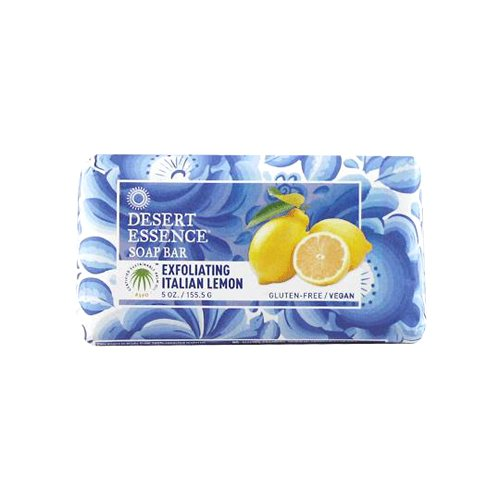 Desert Essence 1556521 5 oz Bar Soap Exfoliating Italian Lemon