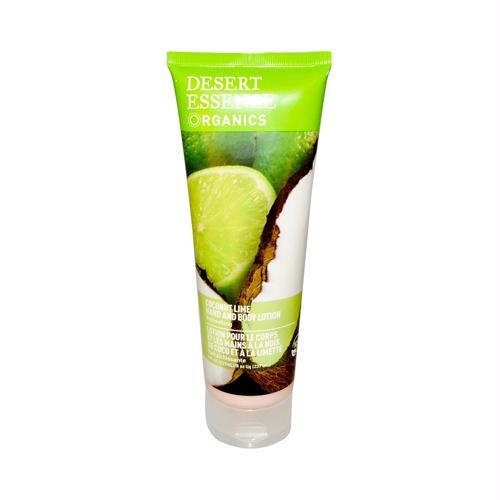 Desert Essence 986927 Desert Essence Hand and Body Lotion Coconut Lime - 8 fl oz