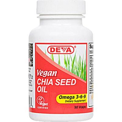 Deva Vegan Vitamins 0814707 Chia Seed Oil - 90 Vcaps