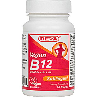 Deva Vegan Vitamins 0911727 B12 Sublingual - 90 Sublingual Tablets