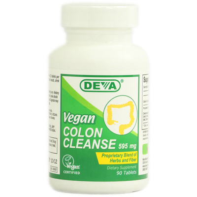 Deva Vegan Vitamins 1020361 Colon Cleanse - 595 mg - 90 Tablets
