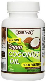 Deva Vegan Vitamins 1582469 Coconut Oil Capsules - 90 Tablets