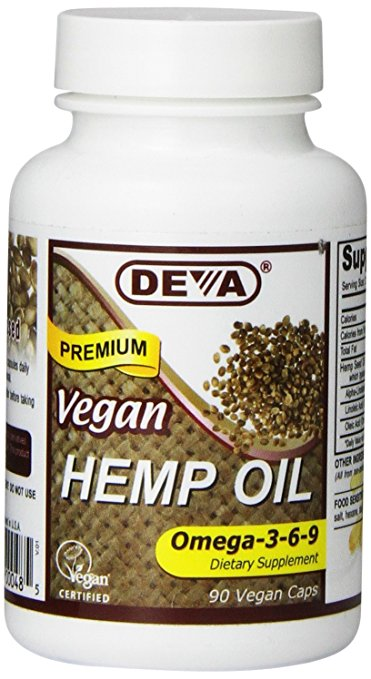 Deva Vegan Vitamins 1582477 Hemp Oil Omega - 90 Vegan Capsules