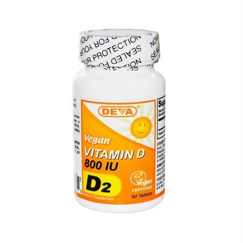 Deva Vegan Vitamins 814582 Deva Vegan Vitamin D - 800 IU - 90 Tablets