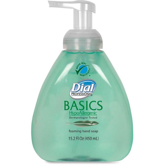 Dial DIA98609 15.2 oz Basics Foaming Soap with Aloe - Fresh Scent Green