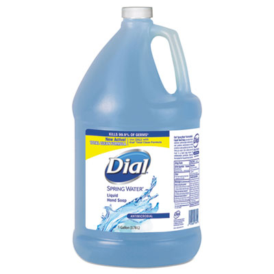 Dial Professional 15926EA 1 gal Antimicrobial Liquid Hand Soap Spring Water Scent Bottle