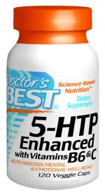 Doctors Best D120 5 HTP with Vitamin B6 & C 120 VGC