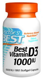 Doctors Best D209 Vitamin D 1000IU 180 SFG