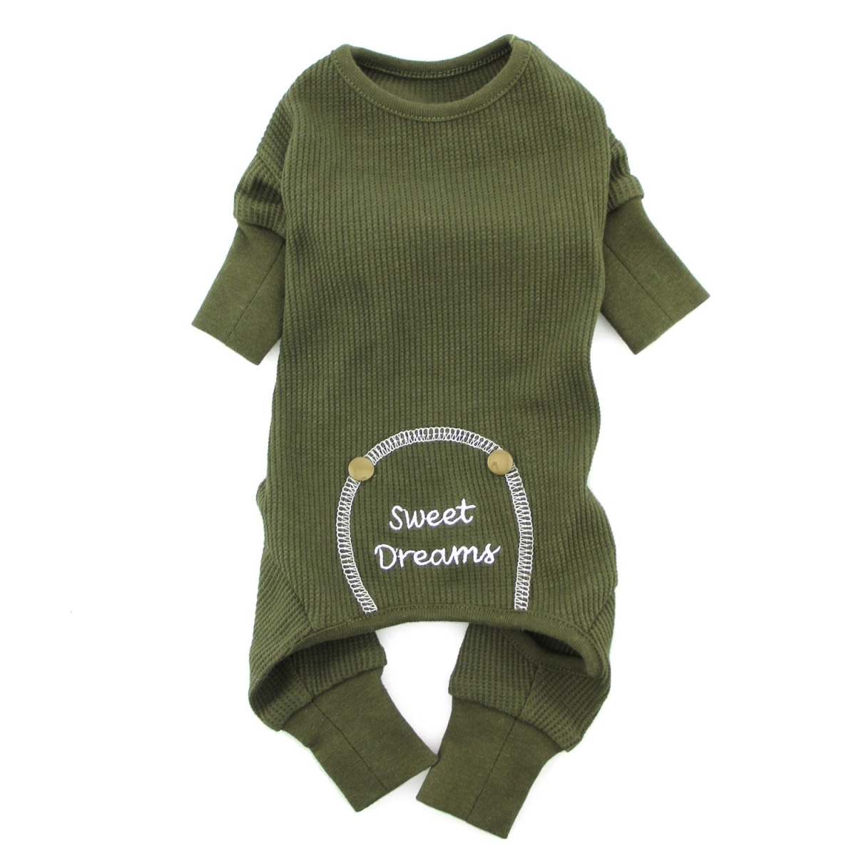 Doggie Design SDPJ-HG-XS Sweet Dreams Thermal Dog Pajamas Herb Green - Extra Small