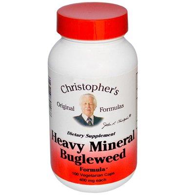 Dr. Christophers Formulas 0987206 Heavy Mineral Bugleweed Formula 400 mg Each 100 Veggie Caps - 100 Caps