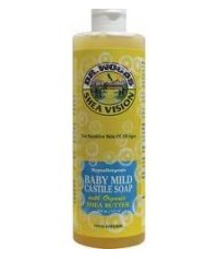 Dr. Woods 0667881 Shea Vision Pure Castile Soap Baby Mild with Organic Shea Butter - 8 fl oz