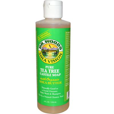 Dr. Woods 0771634 Shea Vision Pure Castile Soap Tea Tree - 8 fl oz