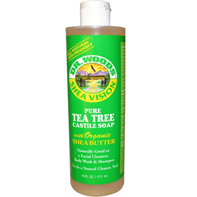 Dr. Woods 0771857 Shea Vision Pure Castile Soap Tea Tree - 16 fl oz
