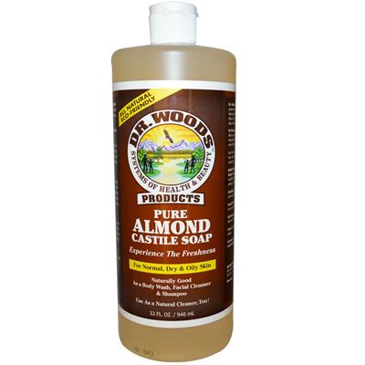 Dr. Woods 0771931 Pure Castile Soap Almond - 32 fl oz