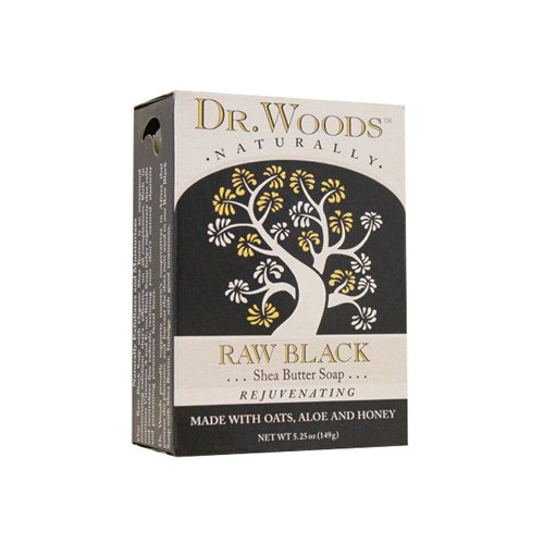 Dr. Woods 1198837 Face Cleansing Raw Black Bar 5.25 oz