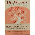 Dr. Woods Naturals 1053222 Naturally Bar Soap Skin Lightening English Rose - 5.25 oz