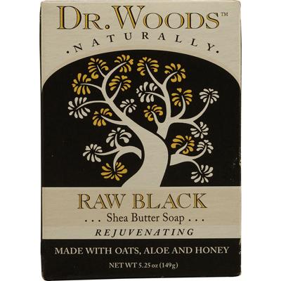 Dr. Woods Naturals 1053396 Naturally Bar Soap Raw Black - 5.25 oz
