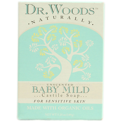 Dr. Woods Naturals 1053404 Naturally Bar Soap Baby Mild Unscented - 5.25 oz