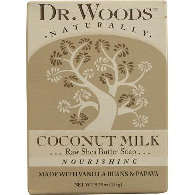 Dr. Woods Naturals 1077791 Naturally Bar Soap Coconut Milk - 5.25 oz