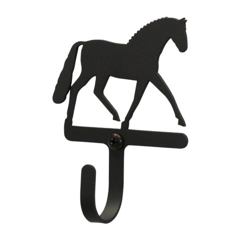 Dressage Horse Wall Hook Small - Black