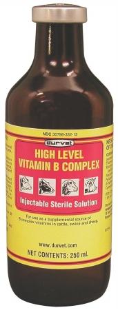 Durvet Inc High Level Vitamin B Complex- Yellow 250 Milliliter - 02 DFV2302