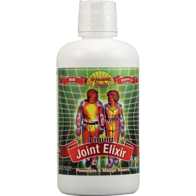 Dynamic Health 1011618 Liquid Joint Elixir with MSM Pineapple and Mango - 32 fl oz
