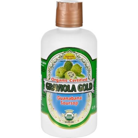 Dynamic Health 1626480 32 oz Gluten Free Organic Certified Graviola Gold Juice