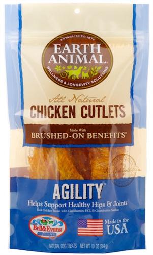 Earth Animal 857253003551 Agility Chicken Jerky Dog Treats 8 oz