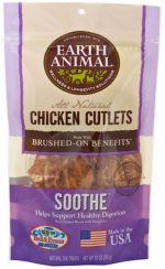 Earth Animal 857253003568 Soothe Chicken Cutlet Treats 8 oz
