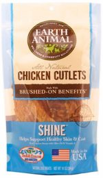 Earth Animal 857253003575 Shine Chicken Cutlet Treats 8 oz